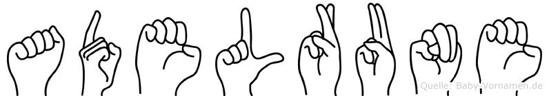 Adelrune in Fingersprache für Gehörlose