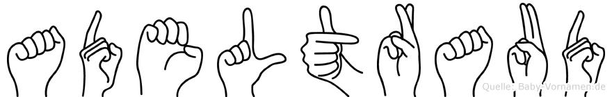Adeltraud in Fingersprache für Gehörlose