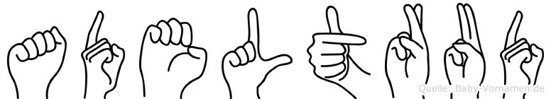 Adeltrud im Fingeralphabet der Deutschen Gebärdensprache
