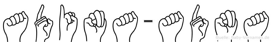 Adina-Adna im Fingeralphabet der Deutschen Gebärdensprache