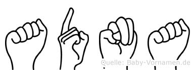 Adna in Fingersprache für Gehörlose