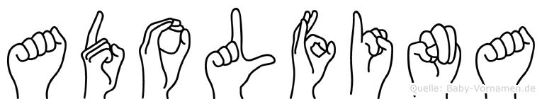 Adolfina in Fingersprache für Gehörlose