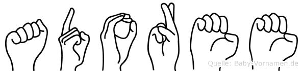 Adoree in Fingersprache für Gehörlose
