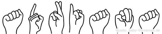 Adriana in Fingersprache für Gehörlose