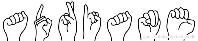 Adriane in Fingersprache für Gehörlose