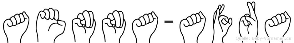 Aenna-Afra im Fingeralphabet der Deutschen Gebärdensprache