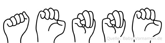 Aenne in Fingersprache für Gehörlose