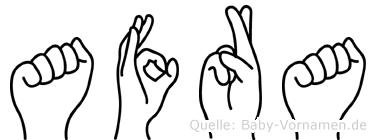 Afra in Fingersprache für Gehörlose