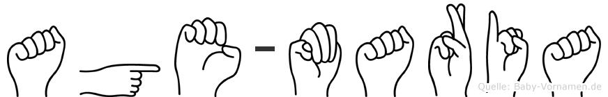 Age-Maria im Fingeralphabet der Deutschen Gebärdensprache