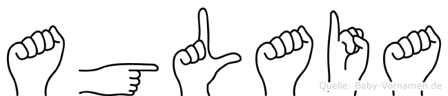Aglaia im Fingeralphabet der Deutschen Gebärdensprache