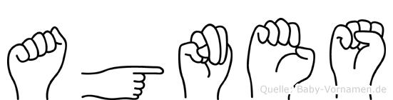 Agnes in Fingersprache für Gehörlose