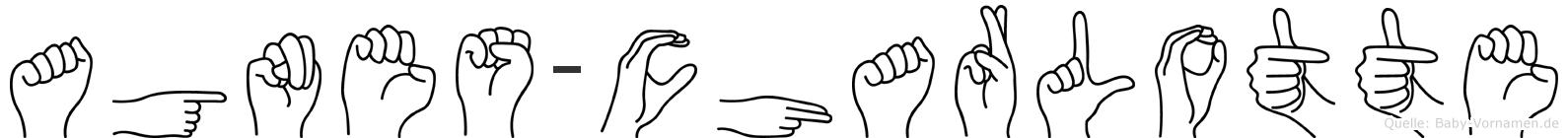 Agnes-Charlotte im Fingeralphabet der Deutschen Gebärdensprache