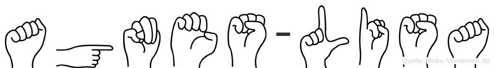 Agnes-Lisa im Fingeralphabet der Deutschen Gebärdensprache