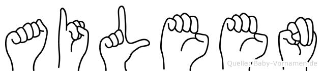 Aileen in Fingersprache für Gehörlose