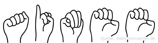 Aimee im Fingeralphabet der Deutschen Gebärdensprache