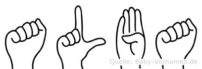 Alba in Fingersprache für Gehörlose