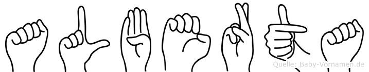 Alberta in Fingersprache für Gehörlose