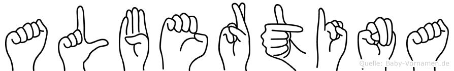 Albertina in Fingersprache für Gehörlose