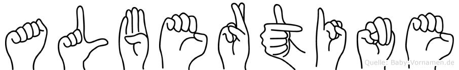 Albertine im Fingeralphabet der Deutschen Gebärdensprache