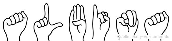 Albina in Fingersprache für Gehörlose