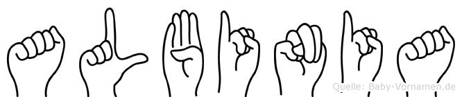 Albinia in Fingersprache für Gehörlose