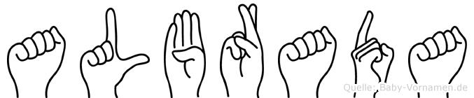 Albrada in Fingersprache für Gehörlose