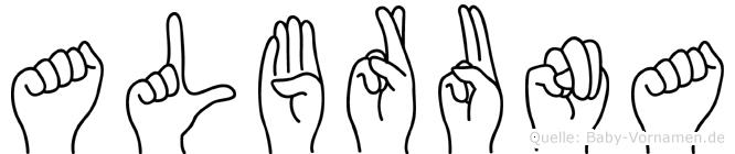 Albruna in Fingersprache für Gehörlose