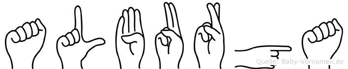 Alburga in Fingersprache für Gehörlose