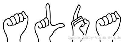 Alda in Fingersprache für Gehörlose