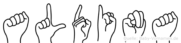 Aldina in Fingersprache für Gehörlose