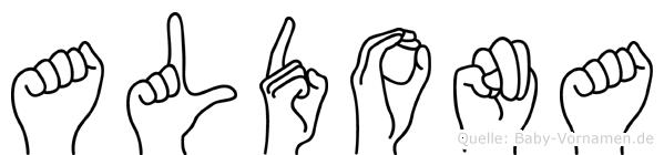 Aldona im Fingeralphabet der Deutschen Gebärdensprache