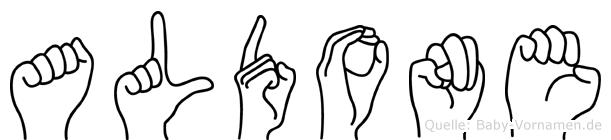 Aldone in Fingersprache für Gehörlose