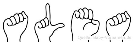 Alea in Fingersprache für Gehörlose