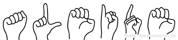Aleide in Fingersprache für Gehörlose