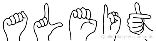 Aleit im Fingeralphabet der Deutschen Gebärdensprache