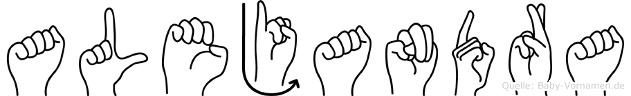 Alejandra im Fingeralphabet der Deutschen Gebärdensprache