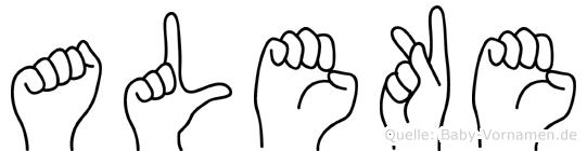 Aleke in Fingersprache für Gehörlose