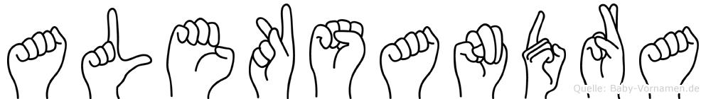 Aleksandra im Fingeralphabet der Deutschen Gebärdensprache
