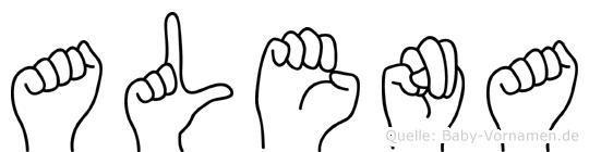 Alena in Fingersprache für Gehörlose