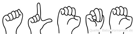 Alene in Fingersprache für Gehörlose