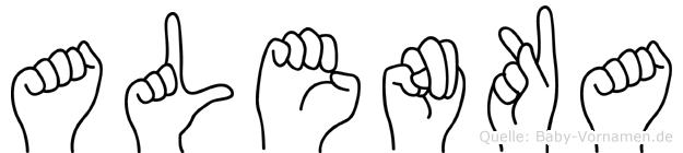 Alenka im Fingeralphabet der Deutschen Gebärdensprache