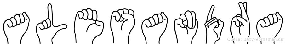 Alesandra in Fingersprache für Gehörlose