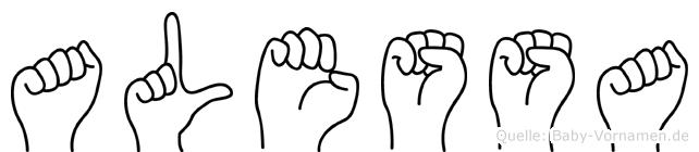 Alessa im Fingeralphabet der Deutschen Gebärdensprache