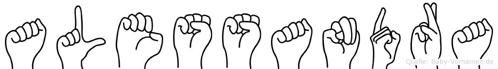 Alessandra im Fingeralphabet der Deutschen Gebärdensprache