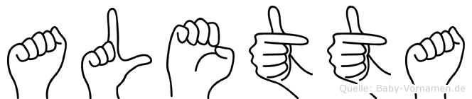 Aletta in Fingersprache für Gehörlose