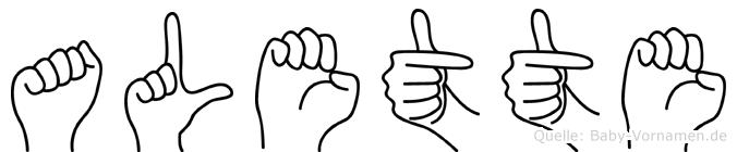 Alette in Fingersprache für Gehörlose