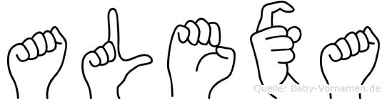 Alexa im Fingeralphabet der Deutschen Gebärdensprache