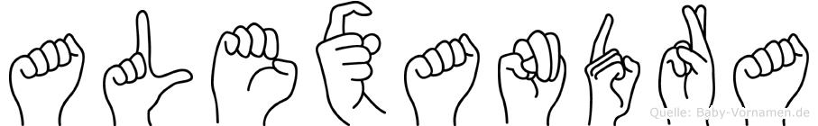 Alexandra in Fingersprache für Gehörlose