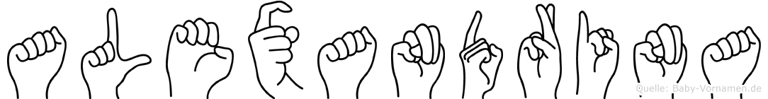 Alexandrina in Fingersprache für Gehörlose