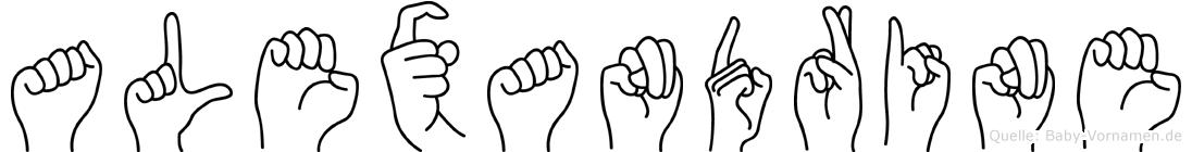 Alexandrine im Fingeralphabet der Deutschen Gebärdensprache